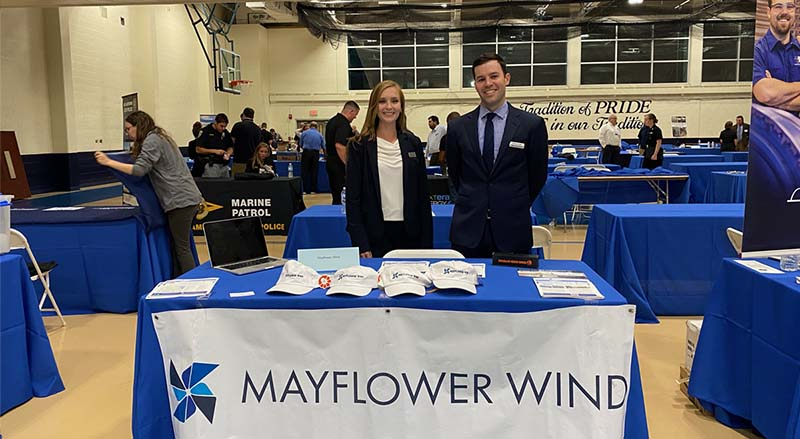 Kelsey Perry and Will Cotta at MMA Career Fair